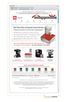 Brand: illy | Subject: Give Espresso Made Simple | Thanksgiving Machine Event