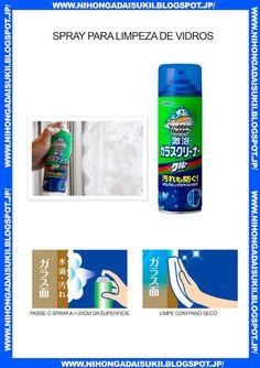 Spray para limpeza de vidros