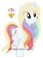 This is Sasha, she has rainbow powers. Please adopt!