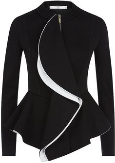 Two Tone Ruffle Jacket - Givenchy