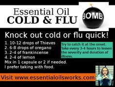 Young Living Essential Oils Cold and Flu Bomb! Thieves, Oregano, Frankincense and Lemon