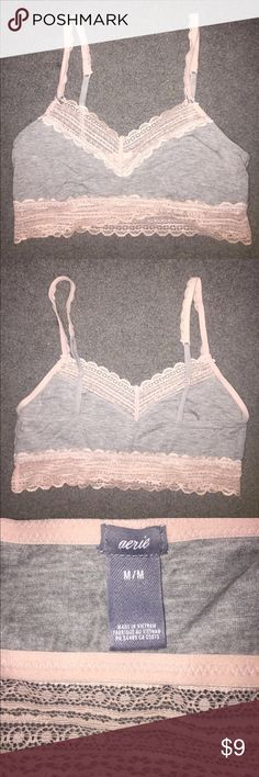 Super soft bralette Aerie bralette no padding. Has a convertible hook so you can wear the straps racerback or spaghetti style. Wonderful for under tank tops in the summer. Also perfect for lounging because the material is so soft. aerie Intimates & Sleepwear Bras