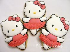Hello Kitty Ballerina Cookies