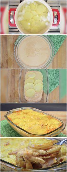 Lasanha Cremosa de Batata [ receita fácil pra quem tem pressa ] #lasanha #lasanhadebatata #lasanhacremosa