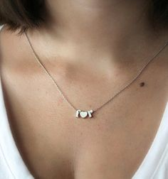 Silver I Heart You Necklace Silver Necklace by keepingitchic