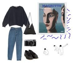 """""""honeybee"""" by esmeegroothuizen ❤ liked on Polyvore featuring MSGM, StyleNanda, Dr. Martens, art, magritte and aesthetic"""