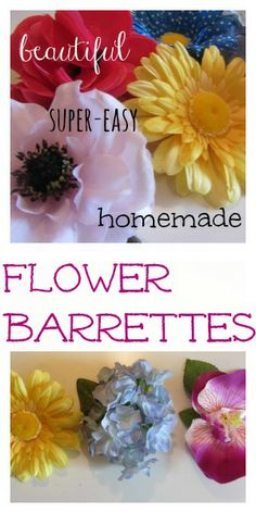 a FAVE playdate craft or fun for easter baskets. . . my girls love these flower barrettes!