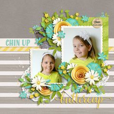 This is February Digital Scrapbooking Templates