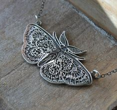 Symbol meaning and history jewelry,handmade by ALM Silver Charms, Sterling Silver Necklaces, Silver Jewelry, Handmade Silver, Handmade Jewelry, Large Moth, Pure Products, Pendant, History