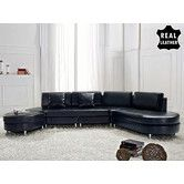 Found it at Wayfair - Copenhagen Leather Stationary Sectional