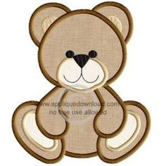 Image result for applique teddy bear