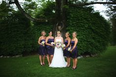 Rustic Summer Wedding bridesmaids and bride picture