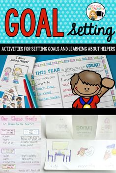 Use this differentiated packet of 11 lesson plans and 20 student activities to help your class with goal setting and learning about school, home, and community helpers. Grade One Snapshots * Grade School Snapshots