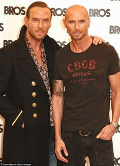 The boys are back! Eighties boyband BROS, of brothers Matt ( left) and Luke Goss, are getting back together after 24 years