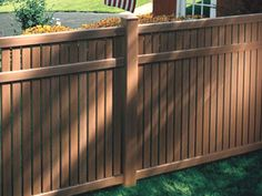 Imperial Select Cedar The Imperial Select Cedar™ styles feature an authentic wood texture appearance. The Imperial vinyl fence is ideal for a semi-private fence. The narrow spaces all but block the view, especially at angles, as you can see in the pictures, while at the same time allowing some air to move through the fence. For that reason, this style is a better choice than a solid vinyl fence in high wind prone areas.........