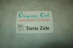 origami owl name badge