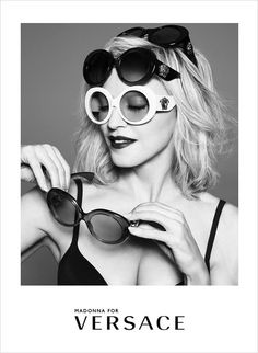69741d4517 The Essentialist - Fashion Advertising Updated Daily  Versace Eyewear feat.  Madonna Ad Campaign Spring