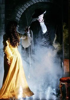 Ramin Karimloo as the Phantom and Gina Beck as Christine Daae. Broadway Theatre, Musical Theatre, Teatro Musical, It's Over Now, Opera Ghost, Music Of The Night, Ramin Karimloo, Don Juan, Love Never Dies