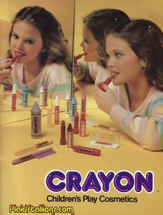 Remco's Crayon Cosmetics from the 80's I remember gettting theses for Christmas
