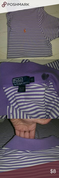 Men's Ralph Lauren polo shirt sz XL Men's Ralph Lauren polo shirt sz XL. Very good condition except for the stain on the neck BUT you can't see it when the collar is folded and down! No armpit stains // Polo by Ralph Lauren Shirts Polos