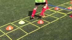 agility ladder, Eye foot coordination and balance Soccer Coaching, Soccer Training, Agility Ladder Drills, Youtube Soccer, Girls Soccer, Nike Soccer, Soccer Cleats, Hockey, Lacrosse