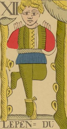 The Hanged Man - Vandenborre Bacchus Tarot (Tarot Flamand de 1780)