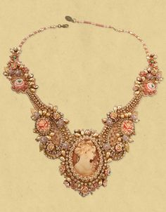 choker necklace | Michal Negrin ~ Cameo Lace Choker Necklace