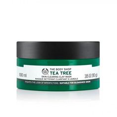 Tea Tree Face Mask by The Body Shop - Instantly cooling mask helps to remove impurities and absorb excess oil whilst soothing and calming blemish prone skin. Contour Makeup, Face Makeup, Tree Faces, Best Masks, Hand Care, Clay Masks, Oils For Skin, Tea Tree Oil, Hair Brush