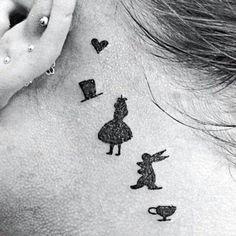 Simple ...but love it Wonderland Tattoo, Tattoo Disney, Ear, Beauty, Beleza, Cosmetology
