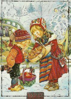 peintres lisi martin - Page 3 Illustration Noel, Christmas Illustration, Vintage Christmas Images, Christmas Pictures, Christmas Scenes, Christmas Art, Illustrations Vintage, Childrens Christmas, Spanish Artists