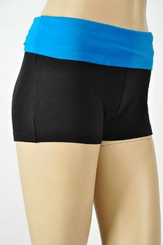 $9.95 - $12.95 cool Yoga Athletic Fitness Shorts, Contrast Fold Over Waist, JR SZS 92/8