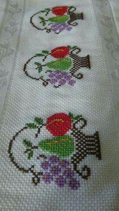 The most beautiful cross-stitch pattern - Knitting, Crochet Love Cross Stitch Borders, Cross Stitch Flowers, Cross Stitch Designs, Cross Stitching, Cross Stitch Embroidery, Hand Embroidery, Cross Stitch Patterns, Embroidery Designs, Baby Knitting Patterns