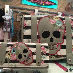 Pretty Skull handbag and available matching wallet at Endless Indulgence Retro Wear 💖💀   #skullpurse #skull #wallet #accessories #endlessindulgenceretrowear #shophistoric25thstreet #ogden #crossbody #historic25thstreet #utahboutique