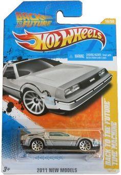 Hot Wheels DeLorean DMC-12 SILVER Back To The Future Time Machine 1:64 Scale