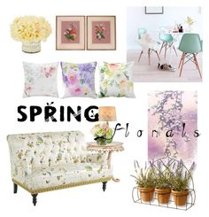 """Spring at home"" by thefakecake ❤ liked on Polyvore featuring interior, interiors, interior design, home, home decor, interior decorating, Ciel, National Tree Company, Pier 1 Imports and Lite Source"