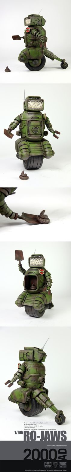 2000 AD ABC Warriors Ro-Jaws the poop scooper
