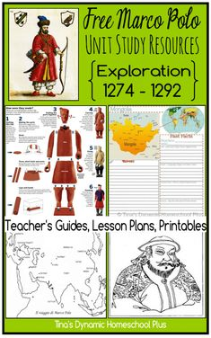 Marco Polo Unit Study–Free Printables, Unit Study Resources