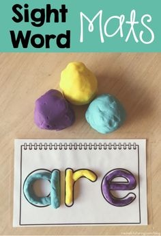 Need a fun way for your students to practice sight words? Try these play dough mats!