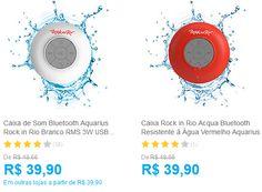 Caixa de Som Bluetooth Aquarius Rock in Rio RMS 3W USB Resistente à Água - Duas Cores Disponíveis << R$ 3591 >>