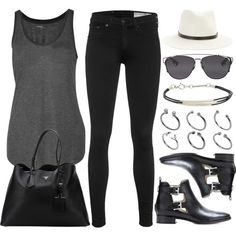 A fashion look from September 2015 featuring Majestic tops, rag & bone jeans e MICHAEL Michael Kors ankle booties. Browse and shop related looks.