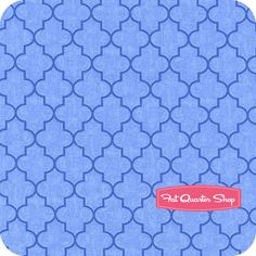 Nursery Fabric: Fatquartershop.com - Spa by Deb Strain for Moda Fabrics - Spa Blue Trellis SKU# 19585-16 $10.75