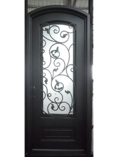 All of our doors are custom built to your exact dimensions. Please provide desired width and height for a free quote. Wrought Iron Doors, Entry Doors, Home Decor, Beautiful, Black, Iron Gates, Decoration Home, Entry Gates, Room Decor