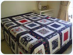 -PRONTA ENTREGA-  Colcha de casal feita em tecido 100% algodão. Veste cama queen. R$300,00