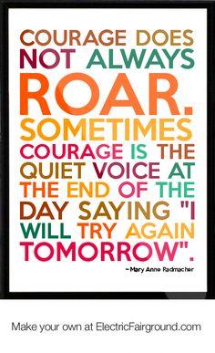 Mary Anne Radmacher Framed Quote