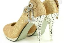 .  you can make any high heel shoes look like these... see my DIY Decorating Shoes