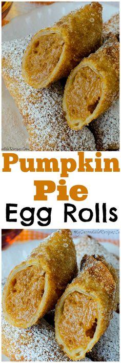 Pumpkin Pie Egg Rolls