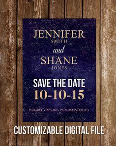 Digital Save the Date - Custom  #DesignsByZal
