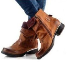 Side Zipper Brush Off Retro Women's Boots Fall Shoes, Spring Shoes, Winter Shoes, Wedge Boots, Ankle Boots, Women's Boots, Flat Boots Outfit, Winter Fashion Boots