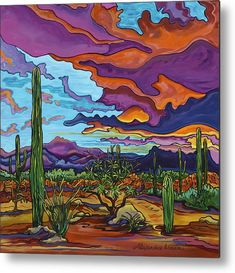 Western Landscape, Landscape Art, Landscape Paintings, Landscapes, Desert Colors, Desert Art, Cactus Painting, Cactus Art, Cactus Plants