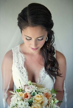 Bridal Hairstyles. I love the side part! It's so me.